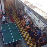 Big Pre-trip volcano climb meeting with Ping Pong competition.