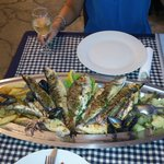 Fish platter - 240 kn (c. £28)