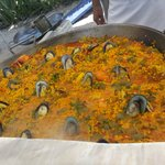 Sunday paella aby the Colonial swimming pool and beach area