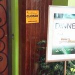 Department of Health Notice at Restaurant!