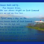 The famous song with my photo at a viewpoint at Loch Lomond