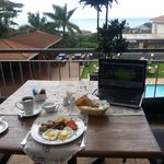 breakfast on Terrace Deck ..free wifi hotspot
