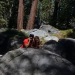 on the trail to taft point