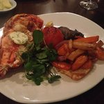 Half lobster! Great with roast vegetables.