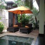 Plunge pool area in villa