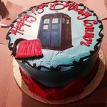Dr. Who themed birthday cake for my 15 year old son, Connor!