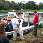 The boat to Tortuguero National Park
