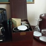 Coffee and Tea box offered to us in our inside our hotel room. I'm glad everything inside the bo