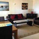 1 bedroom ground floor apartment living area