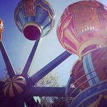 Hot air balloon race ride