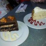 Almond Joy Choc Cake & Strawberry Pistachio Cream Cake