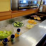 Totem Restaurant in Lillooet, BC - Buffet's cold selection