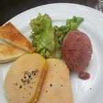 Foie gras et son sorbet à la figue