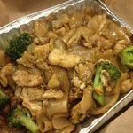 Chicken pad see ew takeout