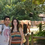 Us in front of Elephant Enclosure