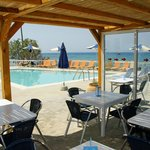View of the pool from the taverna area.
