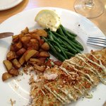 Parmesan encrusted Whitefish with a tarragon aioli.