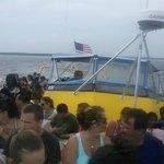 Sea Screamer Yellow Boat out at Sea
