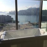 Bath and shower suite  Harbour views from my club 80 suite amazing!!!!