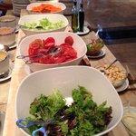 Salad at breakfast