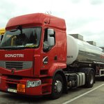 A typical rest zone along the Zurich Paris Highway. Picture shows a huge Tanker so colorful and