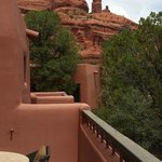 Red rock view from our casita deck