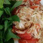 Green Papaya Salad (Tam Mak Hoong)-very spicy