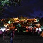 Lijiang old town at night