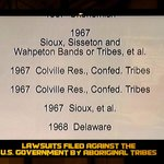 Lawsuits filed by Native Americans.