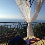 Blick von der Frühstücks-Terrasse