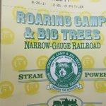 Ticket  Roaring Camp Narrow Gauge Railroad Ride Ticket, Felton, Ca