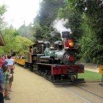 Getting Ready to Board the Train, Roaring Camp and Big Trees Narrow-Gauge Railroad, Felton, Ca