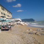 Spiaggia privata e hotel