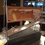Ingenious device to serve fresh honey for breakfast at the Marriot Executive lounge