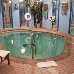 Heated in room pool