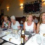 The ladies enjoying pre-dinner drinks