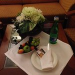 Complimentary fruit/water