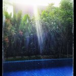 Two Villas Onyx Style - The pool at C1, raining.