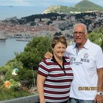 A picture taken by Nikolina overlooking the old city of Dubrovnik