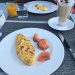 Breakfast in lake Garda