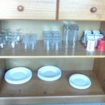 plates etc in the living room very smelly