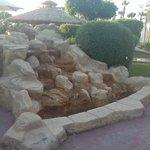 редкая удача - работающий фонтан