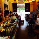 Fresh food and table to eat in friendly atmosphere