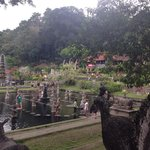 The beautiful water palace (Tirta Ayu in the background)