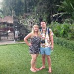 Us at Tirta Ayu - lovely surroundings