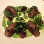 Lamb Breast with Peas and Broad Beans
