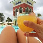 Morning mimosas by the pool!