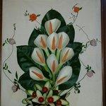 Un quadro fatto con le verdure.