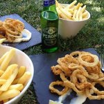 Delicious Flint calamari, casual Sunday lunch