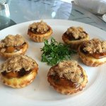 Baked tarts with chicken floss